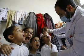 baby receiving vaccine